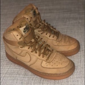 Nike Air Force 1 High LV8 GS 'Flax' Youth